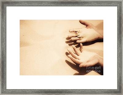 Thirst Of A Dessert Wanderer Framed Print