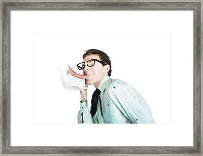 Thirsty Man Licking Coffee Pot Framed Print by Jorgo Photography - Wall Art Gallery