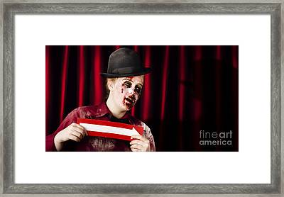 This Way To The Halloween Horror Show Framed Print