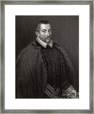 Thomas Bodley, English Diplomat Framed Print by Middle Temple Library