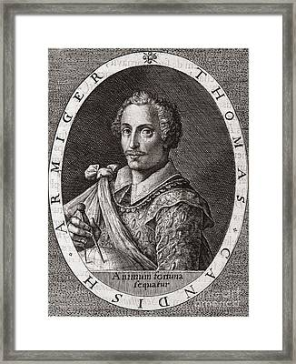 Thomas Cavendish, English Explorer Framed Print