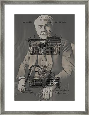 Thomas Edison's Phonograph Framed Print by Dan Sproul