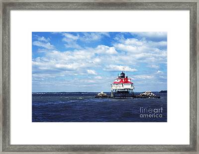 Thomas Point Shoal Lighthouse Framed Print by Thomas R Fletcher