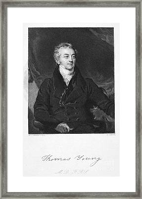 Thomas Young (1773-1829) Framed Print by Granger