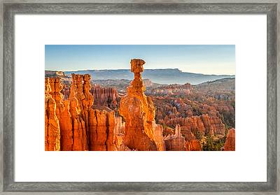 Thor's Hammer At Sunrise Framed Print