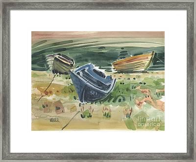 Three Boats Framed Print by Donald Maier