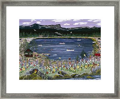 Three Creeks Lake Framed Print