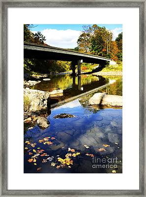 Three Forks Bridge Williams River Framed Print by Thomas R Fletcher