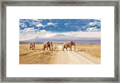 Three Giants Framed Print by James Forsyth