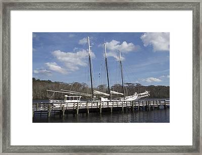 Three Mast Sailboat Framed Print