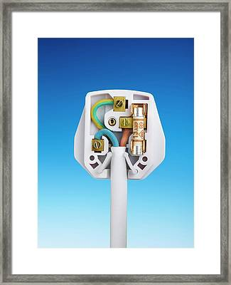 Three-pin Electrical Plug Framed Print