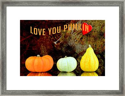 Three Small Pumpkins Framed Print by Tommytechno Sweden