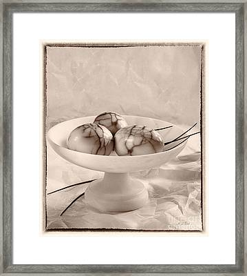 Three Smoked Eggs Framed Print