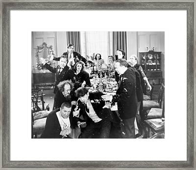 Three Stooges: Film Still Framed Print