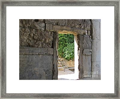 Through - Athens Framed Print