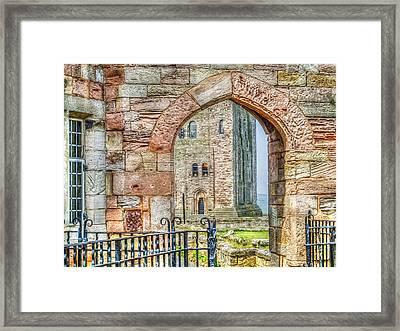 Through The Arch Framed Print
