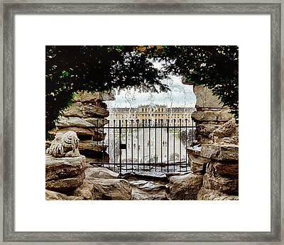 Through The Gate Framed Print by Viacheslav Savitskiy