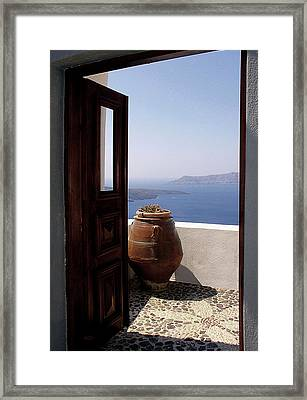 Through This Door Framed Print