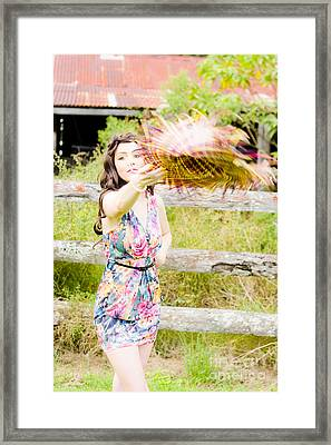 Throw Your Hat Into The Ring Framed Print