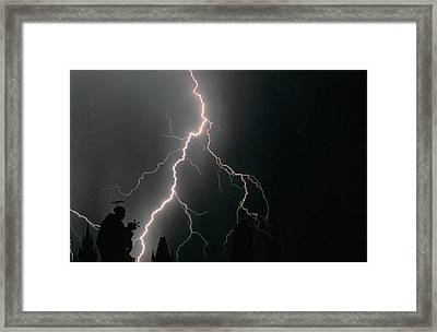 Thunder Storm In The Sky Framed Print by Panoramic Images