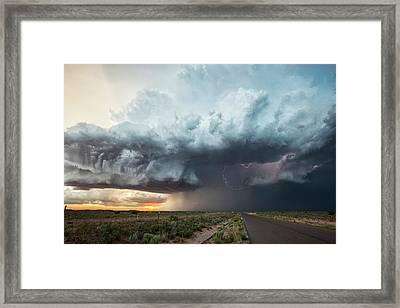 Thunderstorm At Sunset Framed Print
