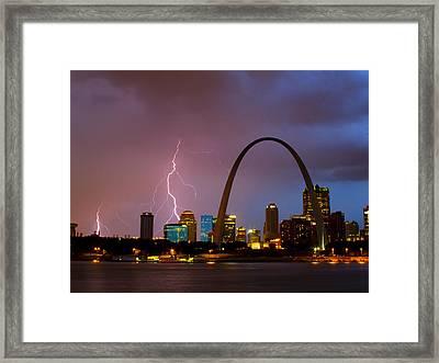 Thunderstorm Over St Louis Framed Print