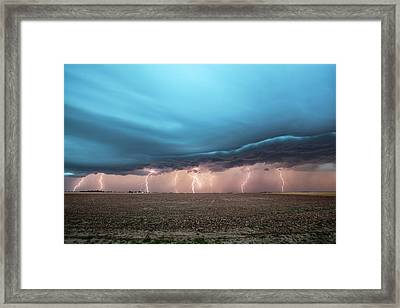 Thunderstorm Framed Print by Roger Hill