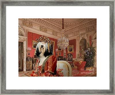 Tibetan Terrier Art Canvas Print Framed Print