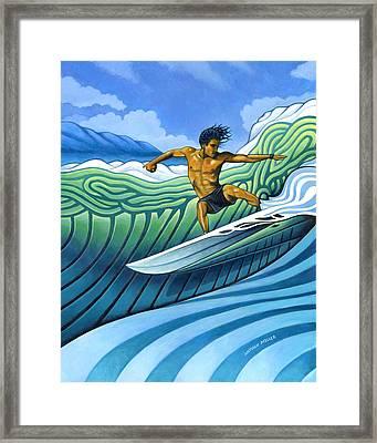 Tico Surfer Framed Print by Nathan Miller