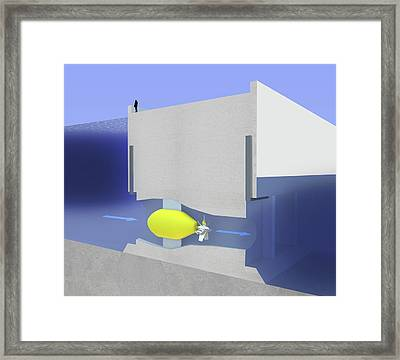Tidal Barrage Power Framed Print by Science Photo Library