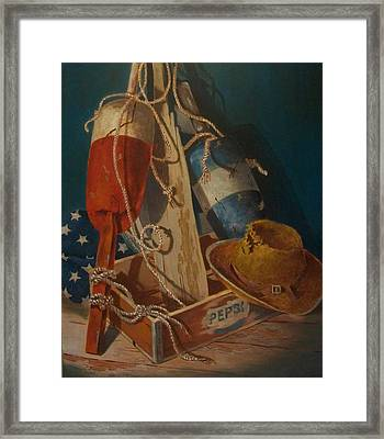 Framed Print featuring the painting Ties That Bind by Tony Caviston