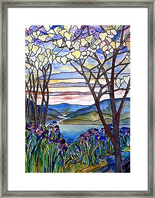 Stained Glass Tiffany Frank Memorial Window Framed Print