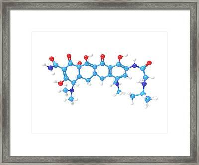 Tigecycline Antibiotic Molecule Framed Print by Indigo Molecular Images
