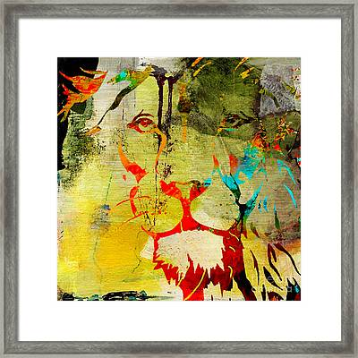 Lion Beauty And Strength Framed Print by Marvin Blaine
