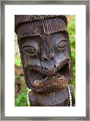 Tiki, Kula Botanical Garden, Upcountry Framed Print