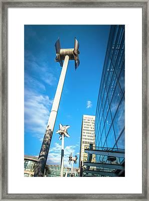Tilted Windmills Sculpture Framed Print