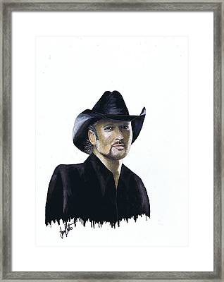 Tim Mcgraw Framed Print