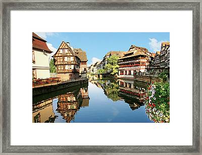 Timbered Buildings, La Petite France Framed Print