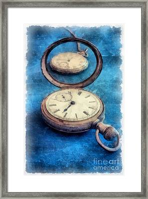 Time Framed Print by Edward Fielding