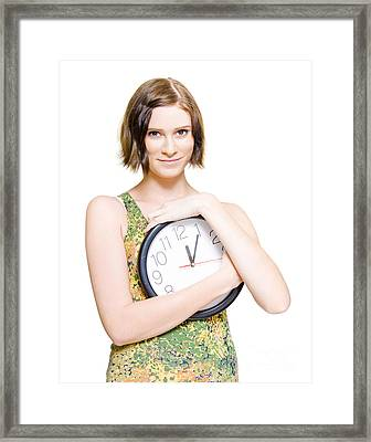 Time For Love And Romance Framed Print
