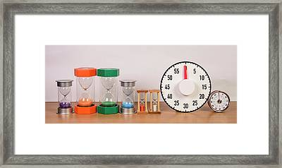 Time Management Framed Print by Photostock-israel