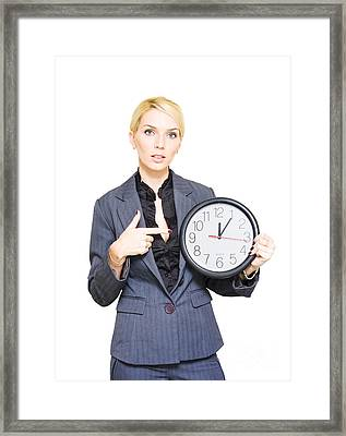 Time Management Framed Print
