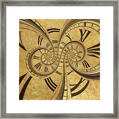 Time Spiral Framed Print