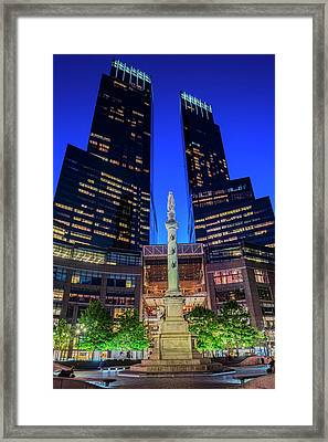 Time Warner Center  New York City, New Framed Print by F. M. Kearney