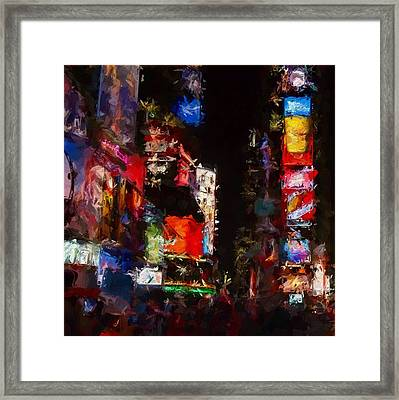 Times Square By Night Framed Print by Stefan Kuhn