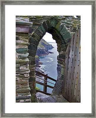 Tintagel Portal Framed Print