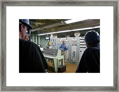 Titan Missile Control Room Framed Print by Jim West