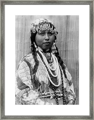 Tlakluit Indian Woman Circa 1910 Framed Print