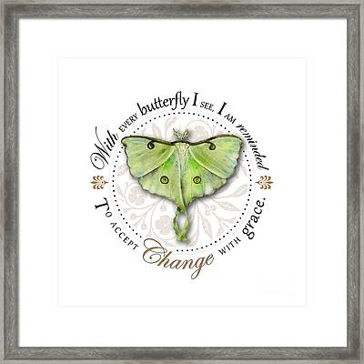 To Accept Change With Grace Framed Print by Amy Kirkpatrick