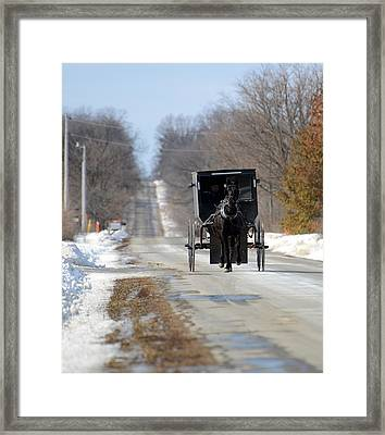 Framed Print featuring the photograph To Market by Linda Mishler